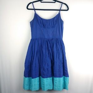 Trina Turk Spaghetti Strap Fit & Flare Dress Sz 8
